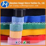 Personalizadas de fábrica en el dorso de gancho y bucle/correa de Velcro sujetacables