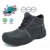 Полиуретановая подошва из стали с поддержкой TOE СПР натуральная кожа мужчин обувь