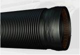Kontaktbuchse-Enden-Schwarz-Farbe doppel-wandiges gewölbtes HDPE Rohr