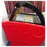 2018 Vidro comercial de sorvete de porta do gabinete do monitor