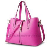 方法OEM ODMの女性PUの革肩のトートバックのハンドバッグ