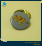 Los botones de ajuste de cobre de metal con la pintura de seda y acabado de impresión