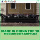 Elegantes königliches modernes echtes modernes ledernes Sofa-Bett