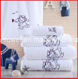 100%年の綿の白く明白な織り方Hoteltextileのホテルタオルの浴室タオル