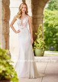 Alineadas nupciales de boda de los vestidos del cordón del recorrido superior escarpado Chiffon de la playa 2018 Z2033