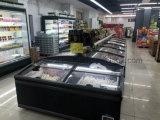 De integrale Koelere Kabinetten van de Diepvriezer van het Eiland van de Supermarkt voor Bevroren Vlees