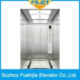 ミラーのステンレス鋼およびスポットライトが付いている別荘のエレベーター