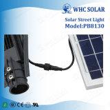 com a lâmpada ao ar livre da rua solar de controle remoto do diodo emissor de luz da ESPIGA 30W
