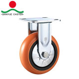 roue lourde rouge de PVC de faisceau en plastique fixe de 100mm