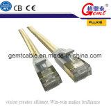 Cable LAN Cable de red Cat7 plana 0,3 m de conector de oro