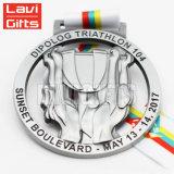 3D Coulée Gold Jiu-Jitsu Sport médaille en Coupe du trophée avec ruban