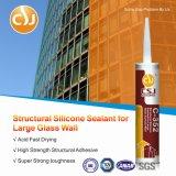 Puate d'étanchéité glaçante structurale de silicones de haute performance pour de grands panneaux en verre