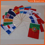 Bâton en plastique d'un drapeau en agitant la main imprimé personnalisé tout logo cheap Polyester petit drapeau de la main de la publicité