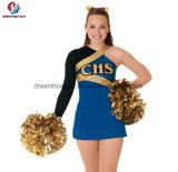 Новый способ подгонял платье молодости голубого популярного Cheerleading чирлидера печатание равномерное