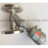 DIN com flange Pn16/JIS 10K Ângulo pneumática do pistão do assento da válvula de controle da extremidade do flange da válvula de vapor