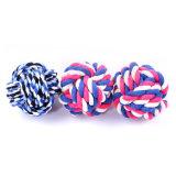 El algodón de color caramelo nudo Pet baratos Juguetes Juguetes de perro interactivo perro algodón Chew Toy
