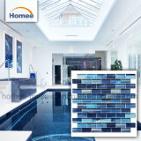 Venta caliente de la pintura de mano de color azul Piscina Mosaico