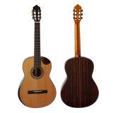 Гитара твердого верхнего тела чёрного дерева Cutway Jave шара сбор винограда классическая