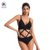 Style brésilien de l'usure de natation de la jeune fille noire Sexy Bikini string