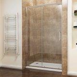 Sally Soft-Close 8mm Porte de douche coulissantes en verre avec système Slidng et de zinc rouleaux double douche