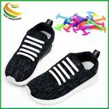 Silicone élastique V n tie Tie lacets lacets de chaussures en silicone