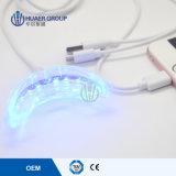 Nahrungsmittelgrad-materielles Silikon-Mundstück-weißes Licht-Lächeln Teeh, das Licht weiß wird