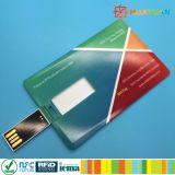 Mecanismos impulsores clásicos coloridos vibrantes del flash de la tarjeta de visita del USB de ISO14443A MIFARE EV1 RFID