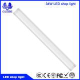 White 34W 1200mm 4 metros lineares de LED montados à superfície do teto para luz fluorescente para garagem