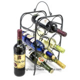 Полка вина шкафа вина металла 6 бутылок Freestanding для Tabletops
