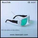 630 - 660nm Dir lb3 y 800 - 830nm Dir LB5 Laser Gafas de seguridad para el láser rojo de 635 nm y 808nm de diodos láser con el bastidor 36