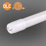 Crep UL/Dlc 돌릴수 있는 Endcaps를 가진 열거된 T8 LED 관 빛