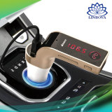 Kit coche Bluetooth con transmisor FM USB Cargador coche reproductor de MP3 Compatible con USB SD TF tarjeta manos libres inalámbrico