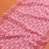 Peach African swiss voile Lace