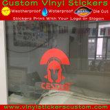주문 승진 비닐 공간은 배경 커트 로고 이동 스티커를 정지한다
