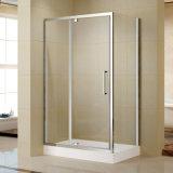 Дверь ливня оси рамки высокого качества алюминиевая с акриловым подносом ливня (K-P12)