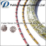 Borracha Primavera Injeção de plástico Corte de diamante Corte de serra de fio para corte de concreto de pedra