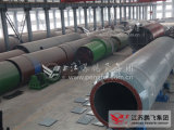 시멘트 생산 라인에 있는 4.8*76m 회전하는 킬른