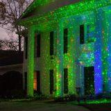 De laser steekt de Openlucht het Knipperen van de Sterrige Projector Rode en Groene Lichte Decoratie van Kerstmis aan
