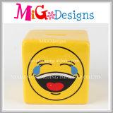Beau côté de pièce de monnaie de galvanoplastie en céramique d'Emoji
