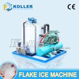Koller 5000kg/Day PLC 관제사를 가진 물에 의하여 냉각되는 조각 제빙기
