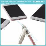 3 em 1 cabo cobrando rápido do USB para o iPhone/Samsung/tabuleta