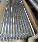 El cinc acanalado cubrió la hoja de acero galvanizada azulejo del material para techos del metal para los materiales de construcción