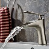 Flg Vessel Finket Faucet Deck Mounted Bathroom Faucet Brushed Nickel