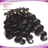 Extensão não processada do cabelo humano do Virgin cru da onda do corpo de Malsyain