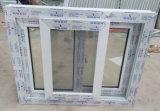 Окно PVC с двойным цветом белизны Tempered стекла