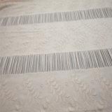 최신 판매 폴리에스테 스판덱스 꽃 돋을새김된 니트 의복 직물