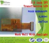 "Напольная 3.5 "" панель касания варианта экрана 240*320 TFT Transflective LCD"