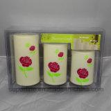 Elegante Bateria Energia Desinfetante sem fogo Multicolor Plástico Rose Impressa LED Candle