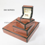 Caixa de madeira envolvida caixa personalizada impressa luxuosa do papel da grão