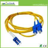 LC Sc Multimode LSZH 62.5/125 Koord van het Flard van de Vezel van FC St het Optische
